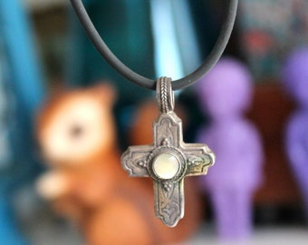 moonstone cross
