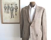 BROOKS BROTHERS Check/Plaid Wool 3 Button Blazer. Sz 40R. USA.