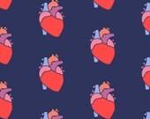 Original Fabric - I Anatomical Heart you - Human Heart, Cardiology, Novelty Print, Doctor,