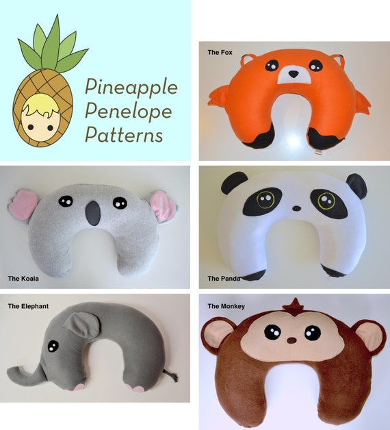 Zoo Animals Nursing Pillow Cover 5 option pack PDF pattern