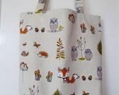 Shopping bag - woodland creatures