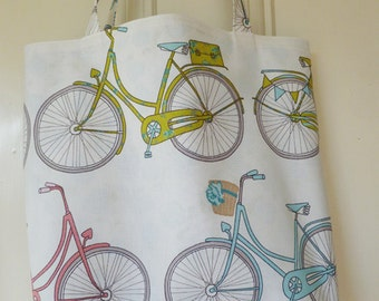 shopping bag - bikes print