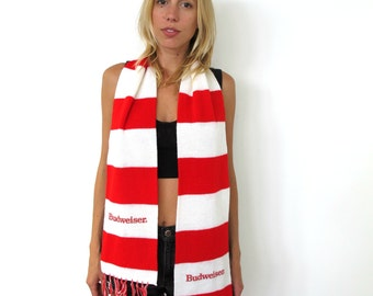 Vintage striped Budweiser scarf