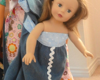 American Girl Doll Carrier, Doll Backpack, 18 inch doll carrier,  Denim Backpack, Sleepover Backpack, Doll Backpack, Doll Carrier
