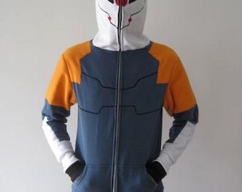Cyborg Ninja Metal Gear Solid Cosplay Costume Gray Fox Hoodie Jacket
