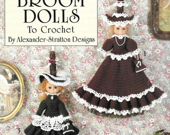 Leisure Arts Victorian Broom Dolls To Crochet By Alexander Stratton Designs Step By Step Instructions Doll Patterns Crochet Doll Designs