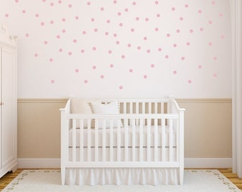 Polka Dots Wall Decal - Nursery Wall Decal - Playroom Wall Decal - Circle Wall Decals - Girl Wall Decal - Vinyl Wall Decal - Set Of 100 Dots