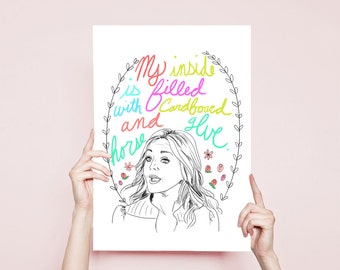 30 Rock Quote Jenna Maroney Quote Funny Illustration 30 Rock Jane Krakowski