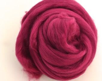 RUBY RED - Merino Wool Roving 1oz