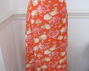 Long Vintage Laura Ashley Floral Skirt. Size 4