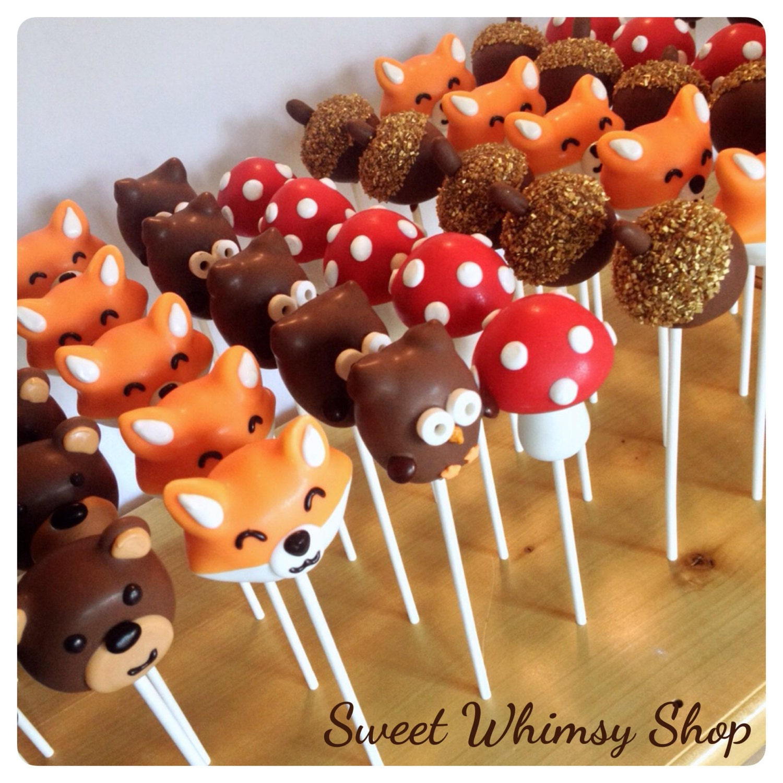 12 Wide-eyed Woodland Owl Cake Pops - for winter ... |Woodland Cake Balls