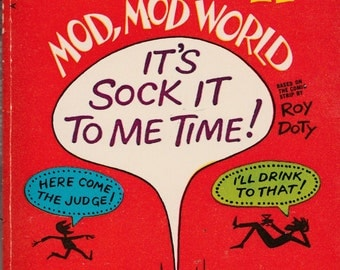 Vintage Laugh-in Mod Mod World Paperback First Printing 1969 Roy Doty