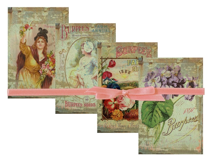 Digital Download, Burpee's Farm Annual & Catalogue, Set of 4 Vintage Seed Cover Catalog Images