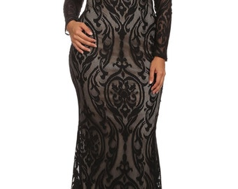 Lace Dress Plus Size, Plus Size Maxi Dress, Prom Dress, Plus Size Dress, Bridesmaid Dress