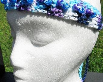 Multicolor Headband, Purple Bridal Headband, Bead Headband, Bridal Headband, Wedding Headband, Bridesmaid Headband, bridesmaid headpiece