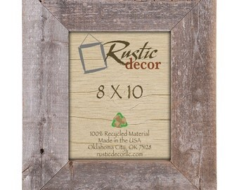 "8x10 Rustic Barn Wood 3.5"" Extra Wide Wall Frame"