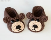 CROCHET PATTERN - Teddy Bear Baby Booties