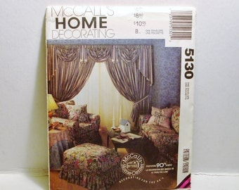 McCall's Home Decorating Pattern- 7 Projects for a Beautiful Home 1990