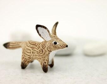 Fennec Fox Totem Figurine Sculpture, Animal magic spirit amulet