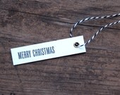 Merry Christmas Letterpress Gift Tags - Set of Seven