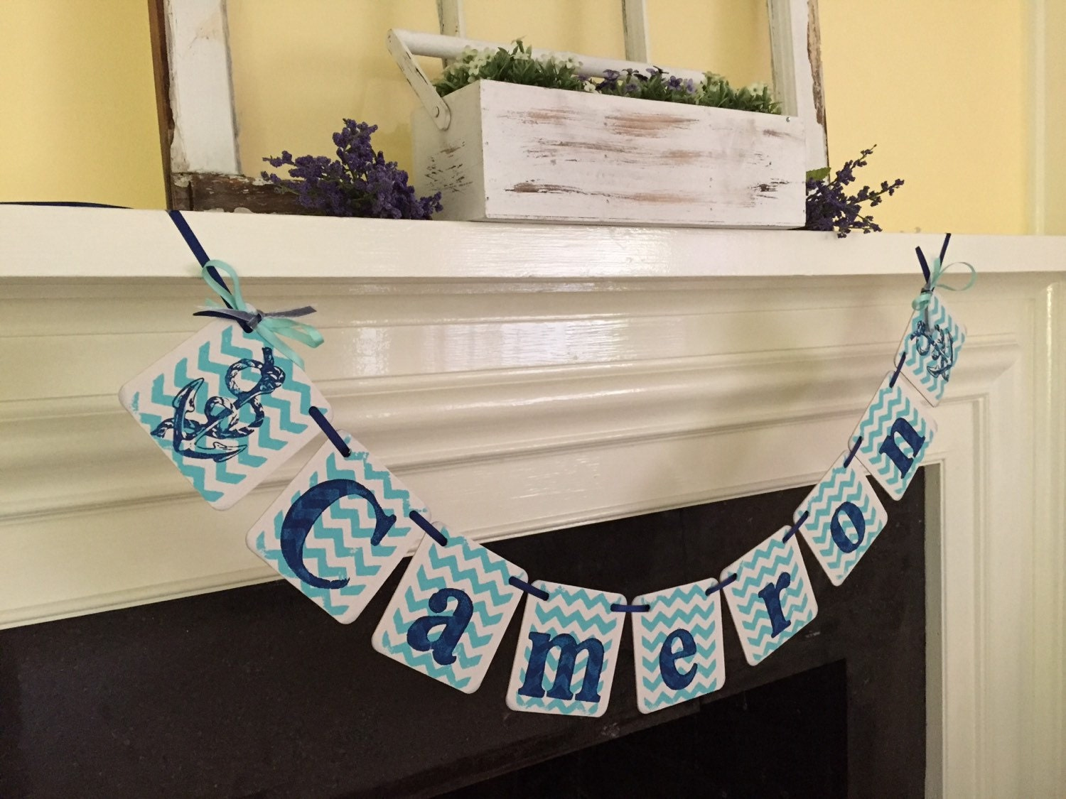 Nautical baby shower decorations chevron stripes baby child - Baby shower chevron decorations ...