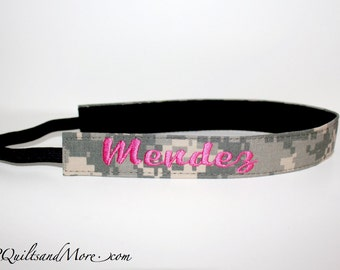 Embroidered Head Band, Lined with Velvet - Army, Navy, Marines & Air Force
