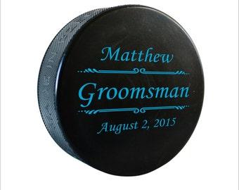 Personalized Hockey Puck, Personalized Hockey Puck, Color Printed Regulation Hockey Puck, Hockey Gift, Groomsman Gift, Wedding Favor HC02