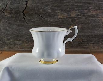 Vintage Royal Albert Val D'or Bone China Teacup Made In England White Porcelain China