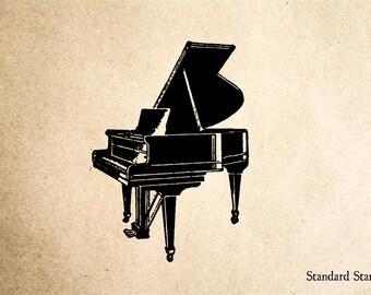 Grand Piano Rubber Stamp - 2 x 2 inches