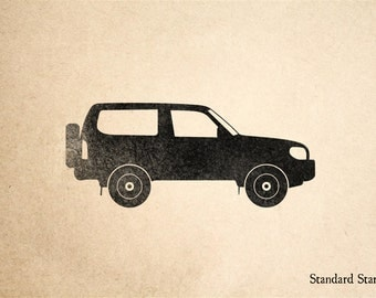 SUV Rubber Stamp - 2 x 2 inches