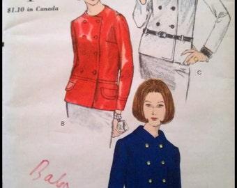 """Vogue 6858  Misses' Jacket  Bust 36""""  UNCUT"""