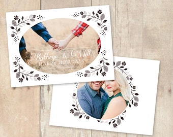 INSTANT DOWNLOAD 5x7 Christmas Card Photoshop Template - CA586