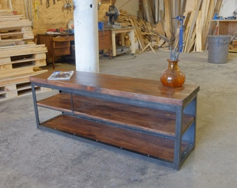 Gallagher Steel and 2 inch Wood Media Console Credenza