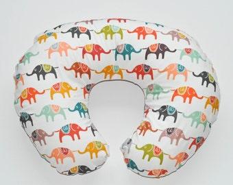 Nursing Pillow Cover Elephant March. Nursing Pillow. Nursing Pillow Cover. Minky Nursing Pillow Cover. Elephant Nursing Pillow Cover.