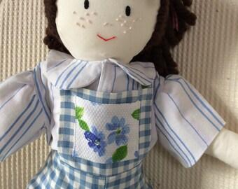 Rag Doll Hand Made Cloth Doll