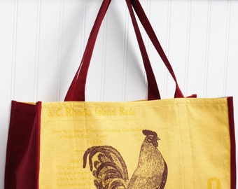 Chicken Farmers Market Bag - Poultry - Free-Range Chicken - Rhode Island Red - Shopping Bag