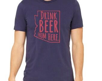Wildcats- Drink Beer From Here- Arizona- UA Craft Beer Shirt