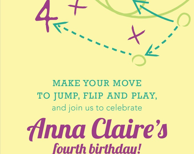 Girl's Sport & Gym | Birthday Party Invitation