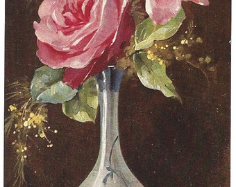 Antique Postcard - Mary Golay - German American Novelty Art -Floral Series 518
