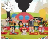 Mickey Mouse; Mickey Mouse Clubhouse Party; Mickey Mouse Birthday Party for 12 Printed, Cut, and Shipped to you!