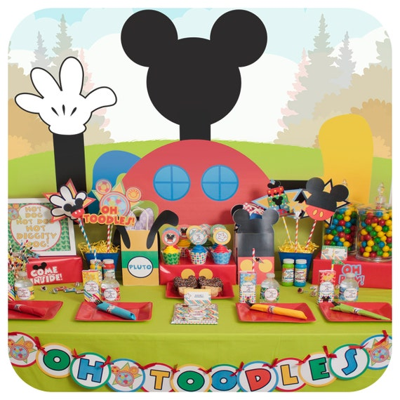 Mickey Mouse; Mickey Mouse Clubhouse Party; Mickey Mouse Birthday Party for 24 Printed Cut and Shipped to you!  sc 1 st  Birthday Wikii - Blogger & Mickey Mouse Birthday Party Tableware Kits | Birthday Wikii