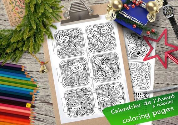 colorier no l calendrier de l 39 avent colorier. Black Bedroom Furniture Sets. Home Design Ideas