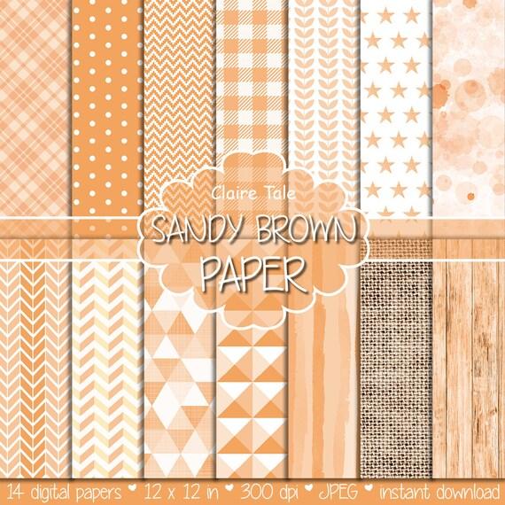 Sandy brown digital patterns, Sandy brown digital paper, Sandy brown background, Sandy brown scrapbooking paper, Sandy brown printable paper