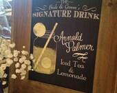 Signature Drink Chalkboard Wedding Sign | Signature Cocktail | Custom Wedding Cocktail Sign | Bar Menu DIY Personalized Digital Printable
