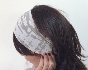 Gray Marble Headband, Wide Headband, Boho Yoga Headband, Workout Headband, Fitness Headband, Running Stretch Hairband, Designscope