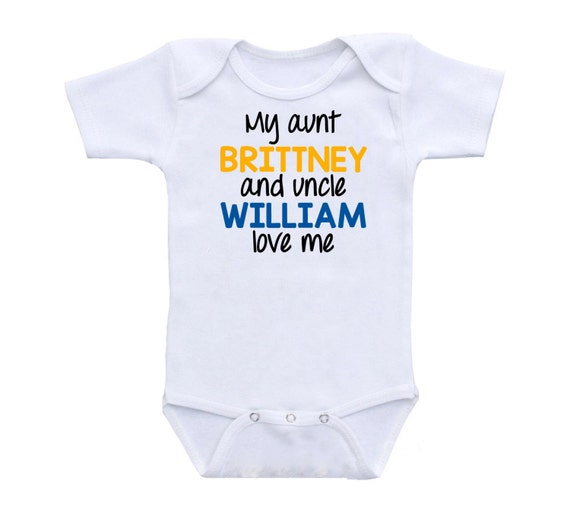 Personalized baby gifts custom shirts custom clothing my aunt like this item negle Image collections