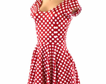 Red polka dot dress | Etsy