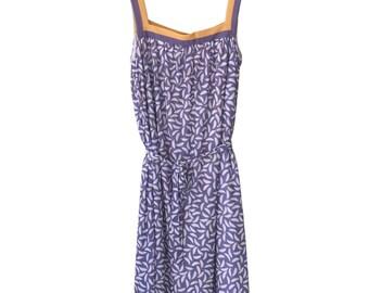 Pastel 70s Summer Slip Midi Dress Size M   US 6 - 8   UK 10 - 12