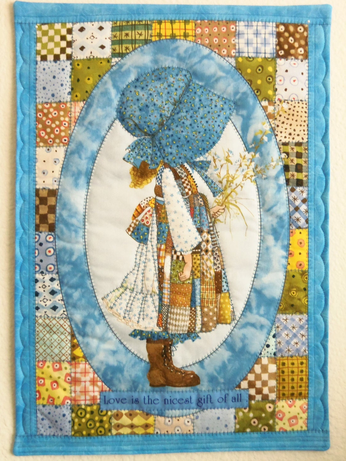 Wall Decor Holly Hobbie Quilted Wall Hanging Table Topper