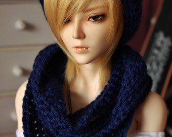 BJD Baggy Beanie & Loopscarf set (Choose your size and color)